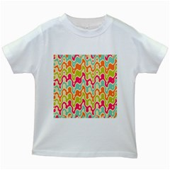 Abstract Pattern Colorful Wallpaper Kids White T-Shirts