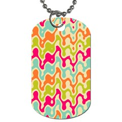 Abstract Pattern Colorful Wallpaper Dog Tag (Two Sides)