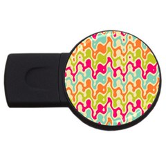 Abstract Pattern Colorful Wallpaper USB Flash Drive Round (2 GB)