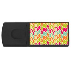 Abstract Pattern Colorful Wallpaper USB Flash Drive Rectangular (1 GB)