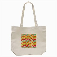 Abstract Pattern Colorful Wallpaper Tote Bag (Cream)