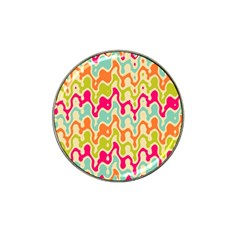 Abstract Pattern Colorful Wallpaper Hat Clip Ball Marker (10 Pack)