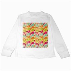 Abstract Pattern Colorful Wallpaper Kids Long Sleeve T-Shirts