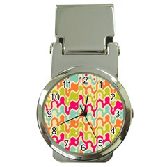 Abstract Pattern Colorful Wallpaper Money Clip Watches