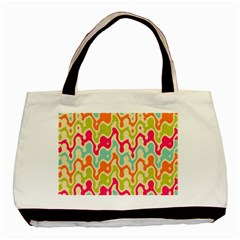 Abstract Pattern Colorful Wallpaper Basic Tote Bag (Two Sides)