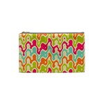 Abstract Pattern Colorful Wallpaper Cosmetic Bag (Small)  Front