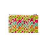 Abstract Pattern Colorful Wallpaper Cosmetic Bag (Small)  Back