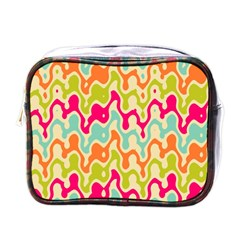 Abstract Pattern Colorful Wallpaper Mini Toiletries Bags