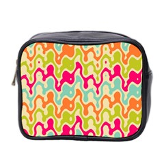 Abstract Pattern Colorful Wallpaper Mini Toiletries Bag 2 Side