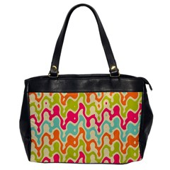 Abstract Pattern Colorful Wallpaper Office Handbags