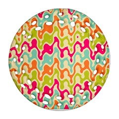Abstract Pattern Colorful Wallpaper Ornament (Round Filigree)