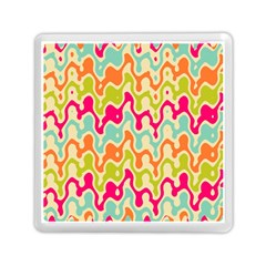 Abstract Pattern Colorful Wallpaper Memory Card Reader (Square)