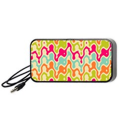 Abstract Pattern Colorful Wallpaper Portable Speaker (black)