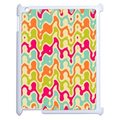 Abstract Pattern Colorful Wallpaper Apple iPad 2 Case (White)