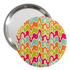 Abstract Pattern Colorful Wallpaper 3  Handbag Mirrors