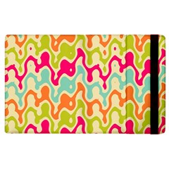 Abstract Pattern Colorful Wallpaper Apple iPad 2 Flip Case
