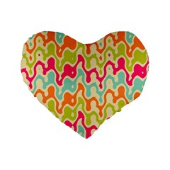 Abstract Pattern Colorful Wallpaper Standard 16  Premium Heart Shape Cushions