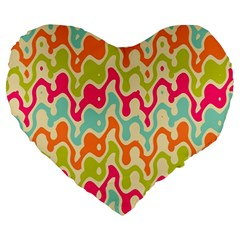 Abstract Pattern Colorful Wallpaper Large 19  Premium Heart Shape Cushions