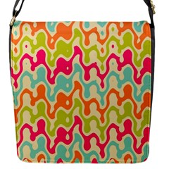 Abstract Pattern Colorful Wallpaper Flap Messenger Bag (S)