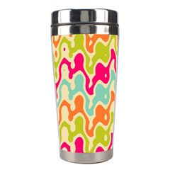 Abstract Pattern Colorful Wallpaper Stainless Steel Travel Tumblers