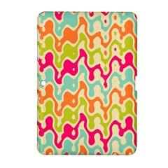 Abstract Pattern Colorful Wallpaper Samsung Galaxy Tab 2 (10.1 ) P5100 Hardshell Case