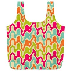 Abstract Pattern Colorful Wallpaper Full Print Recycle Bags (L)