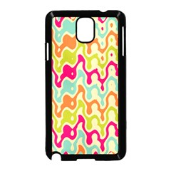 Abstract Pattern Colorful Wallpaper Samsung Galaxy Note 3 Neo Hardshell Case (Black)