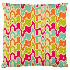 Abstract Pattern Colorful Wallpaper Large Flano Cushion Case (Two Sides)