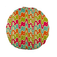 Abstract Pattern Colorful Wallpaper Standard 15  Premium Flano Round Cushions