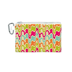 Abstract Pattern Colorful Wallpaper Canvas Cosmetic Bag (S)