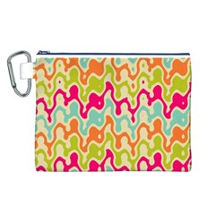 Abstract Pattern Colorful Wallpaper Canvas Cosmetic Bag (L)