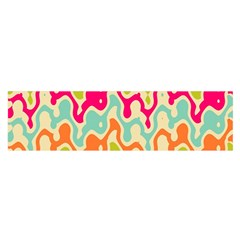 Abstract Pattern Colorful Wallpaper Satin Scarf (Oblong)