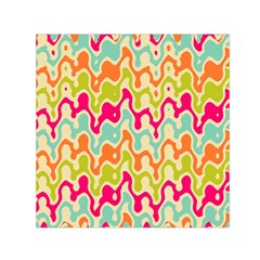 Abstract Pattern Colorful Wallpaper Small Satin Scarf (Square)