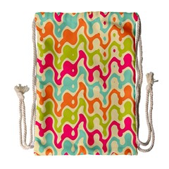 Abstract Pattern Colorful Wallpaper Drawstring Bag (large)