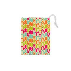 Abstract Pattern Colorful Wallpaper Drawstring Pouches (XS)