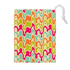 Abstract Pattern Colorful Wallpaper Drawstring Pouches (extra Large)