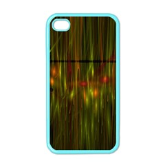 Fractal Rain Apple iPhone 4 Case (Color)
