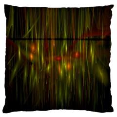 Fractal Rain Large Cushion Case (Two Sides)