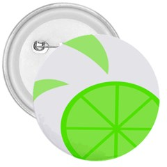 Fruit Lime Green 3  Buttons