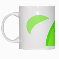 Fruit Lime Green White Mugs