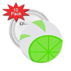 Fruit Lime Green 2 25  Buttons (10 Pack)