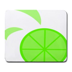 Fruit Lime Green Large Mousepads