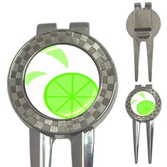 Fruit Lime Green 3-in-1 Golf Divots
