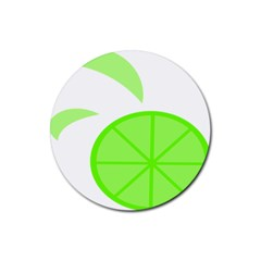 Fruit Lime Green Rubber Coaster (round)
