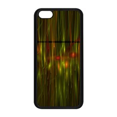 Fractal Rain Apple Iphone 5c Seamless Case (black)