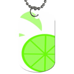 Fruit Lime Green Dog Tag (two Sides)