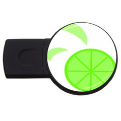 Fruit Lime Green Usb Flash Drive Round (2 Gb)