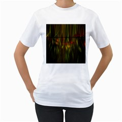 Fractal Rain Women s T-Shirt (White)