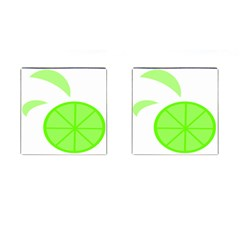 Fruit Lime Green Cufflinks (square)
