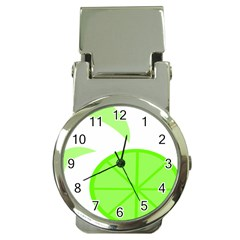 Fruit Lime Green Money Clip Watches